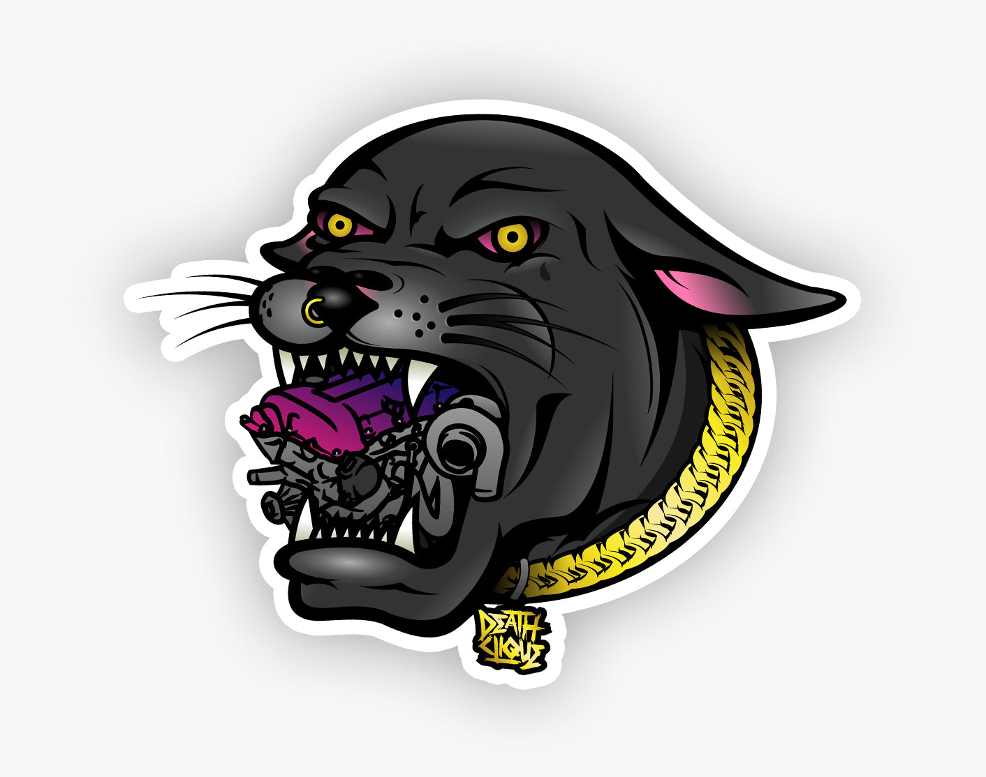 Sr20 Panther Slap Sticker