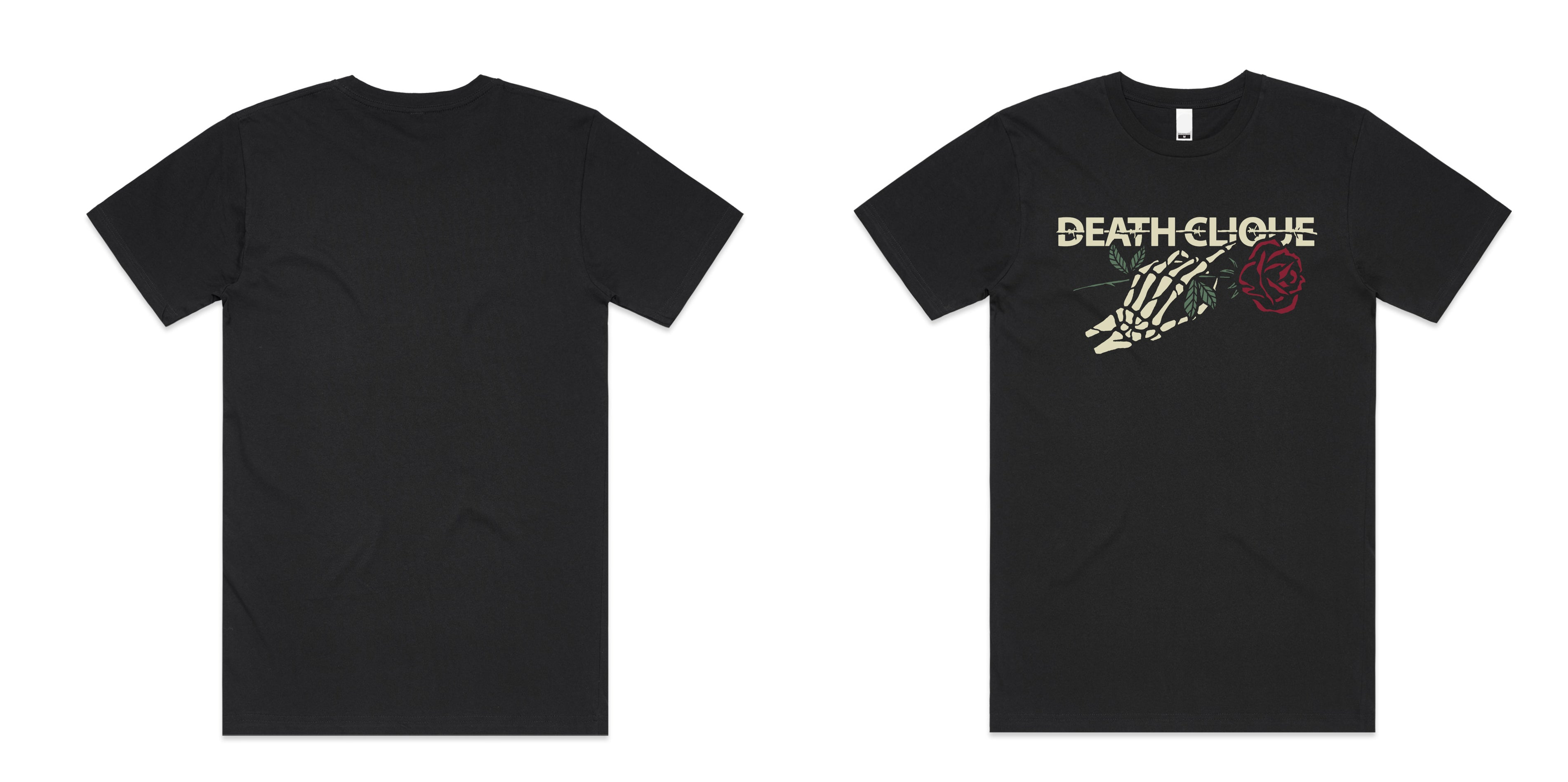 Death Vintage Rose Tee - Black