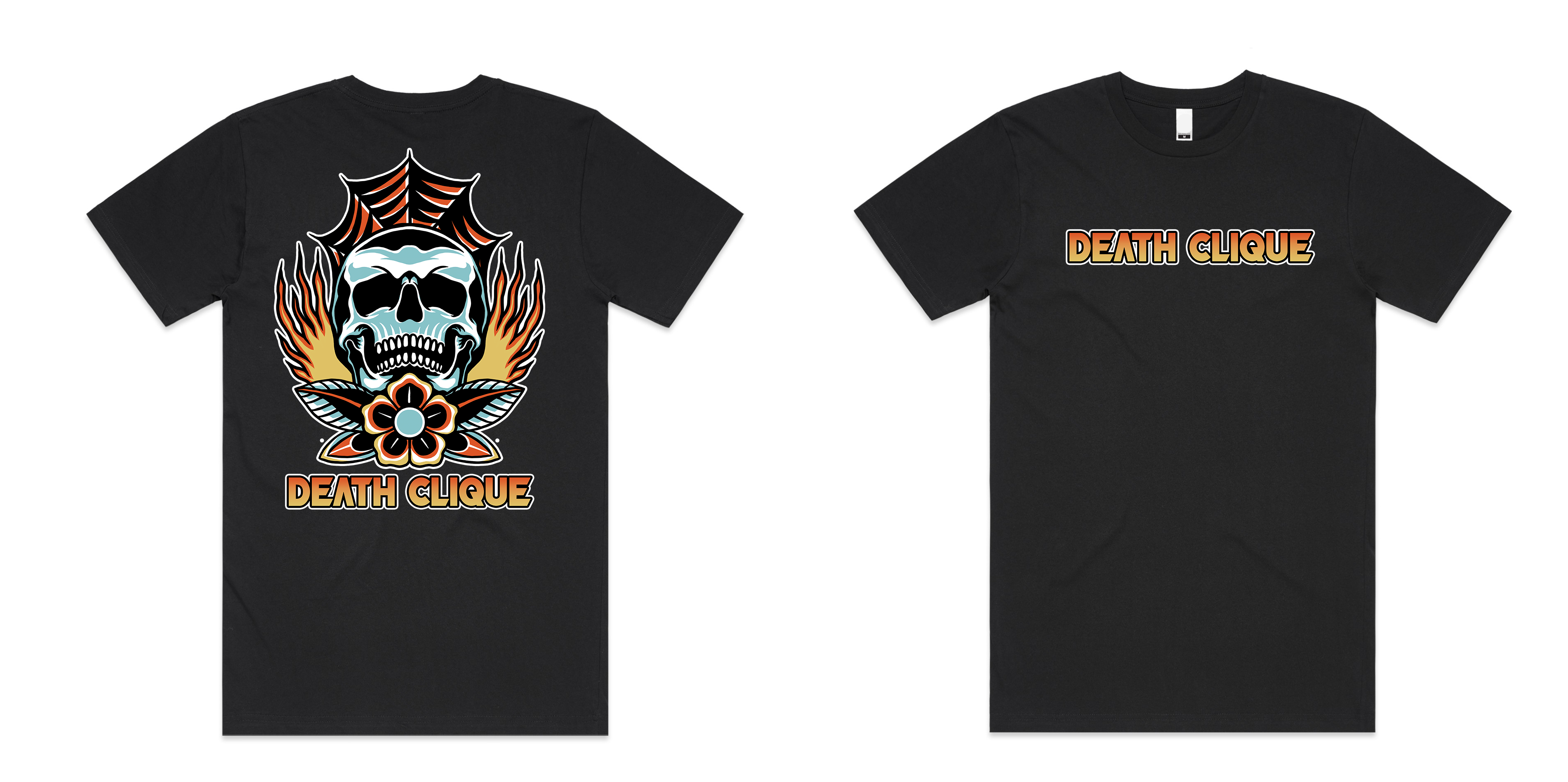 Burn in Death Clique Tall Tee Black