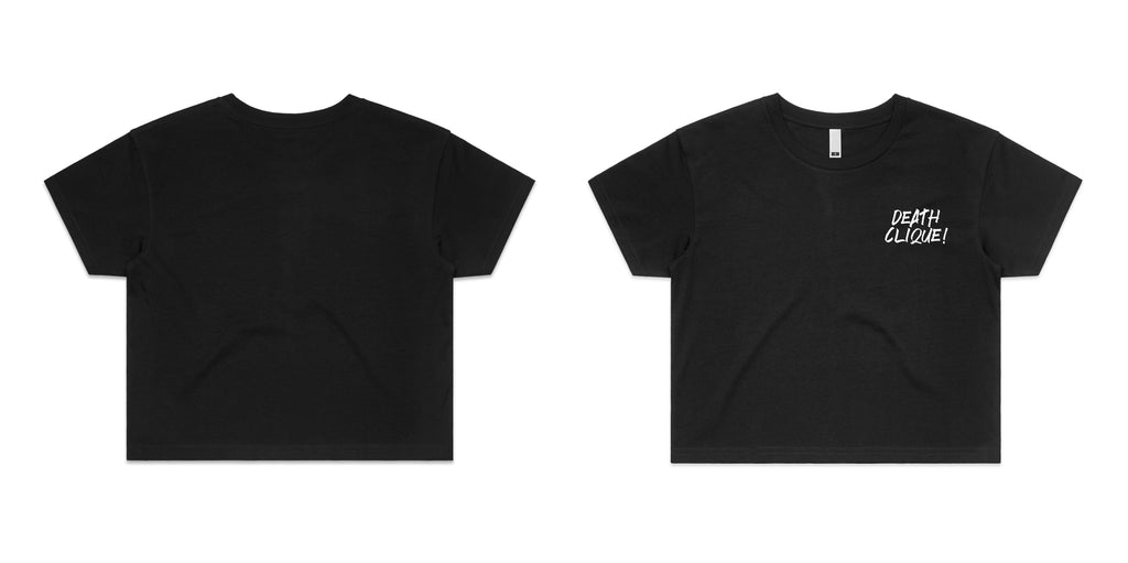 Simple Death Clique Girls Crop Black