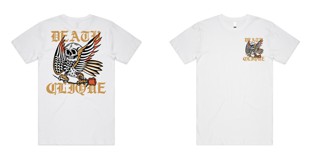 Eagle and Skull White Tee