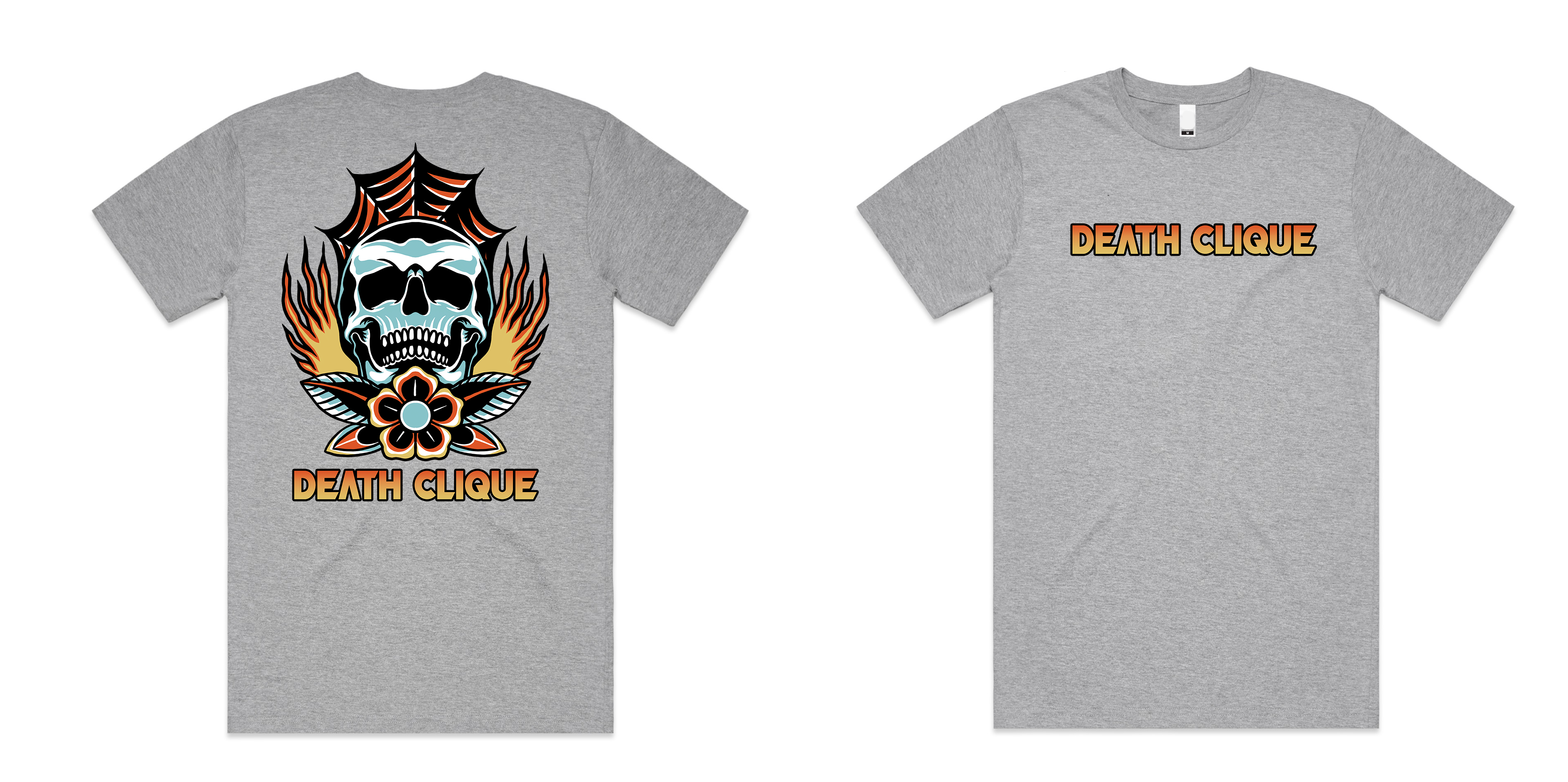 Burn in Death Clique Grey Tee