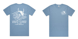 Japanese Street Machines Tee Blue