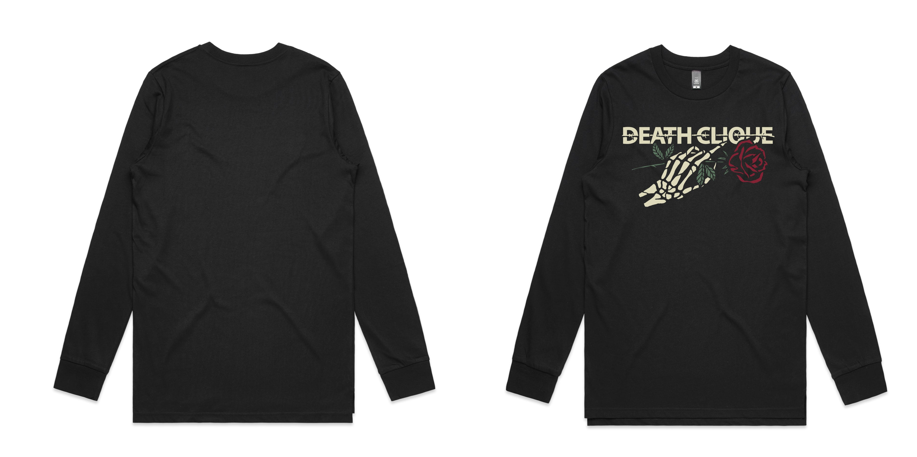 Death Vintage Rose Longsleeve - Black