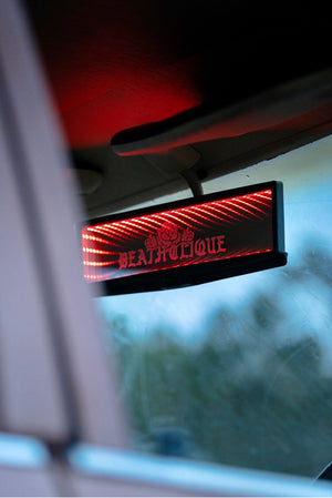 Blackhole Rose LED Rear View Mirror