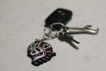 Rainbow Death Skull Key Ring