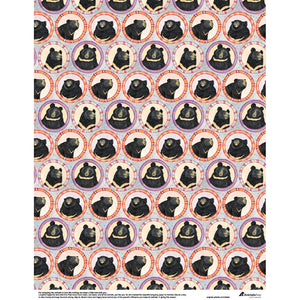 Moon bear wrapping paper-EN version