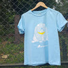 Han Lili light blue straight-fit T-shirt