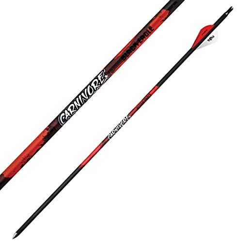 "Black Eagle Carnivore Fletched Carbon Arrows - 400 Spine 2"" Vanes .001 (6-Pack)"
