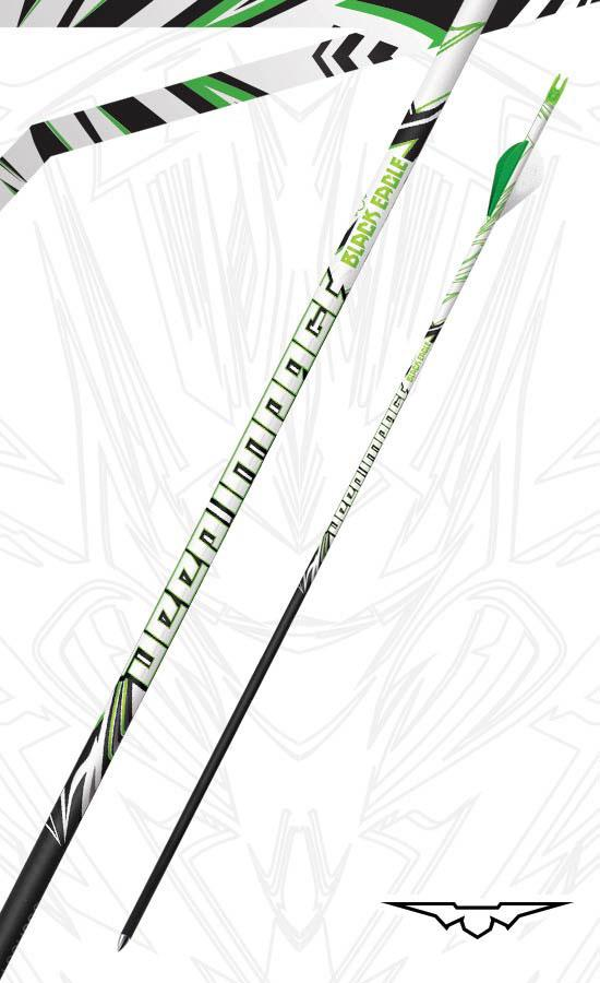 "Black Eagle Deep Impact Crested Fletched Arrows - 2"" Vanes .001 (6-Pack)"