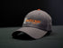 Monster Buck Supply Grey Cap with Orange and Tan Logo