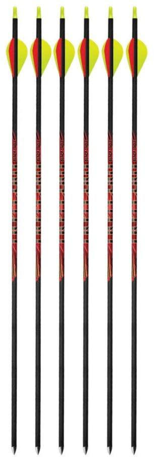 "Black Eagle Outlaw Fletched Arrows - 350 Spine 2"" Vanes .006 (6-Pack)"