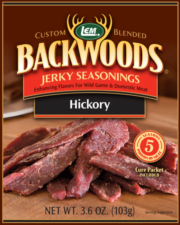 LEM Backwoods Hickory Jerky Seasoning - Makes 5 Lbs.