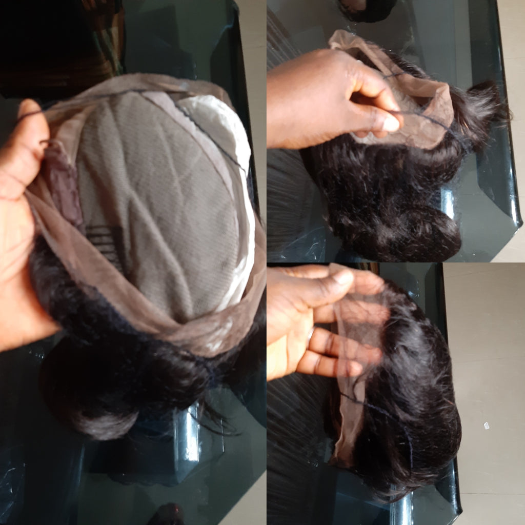 Full lace human hair wig for braiding 8inchesThats