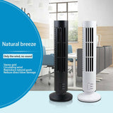 USB Bladeless Fan Circular Vertical Creative Office Desk Tower Fan No Leaf Air Condition