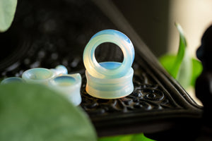 Tunnel Opalite Double Flared Plugs, Pair - 70 Knots