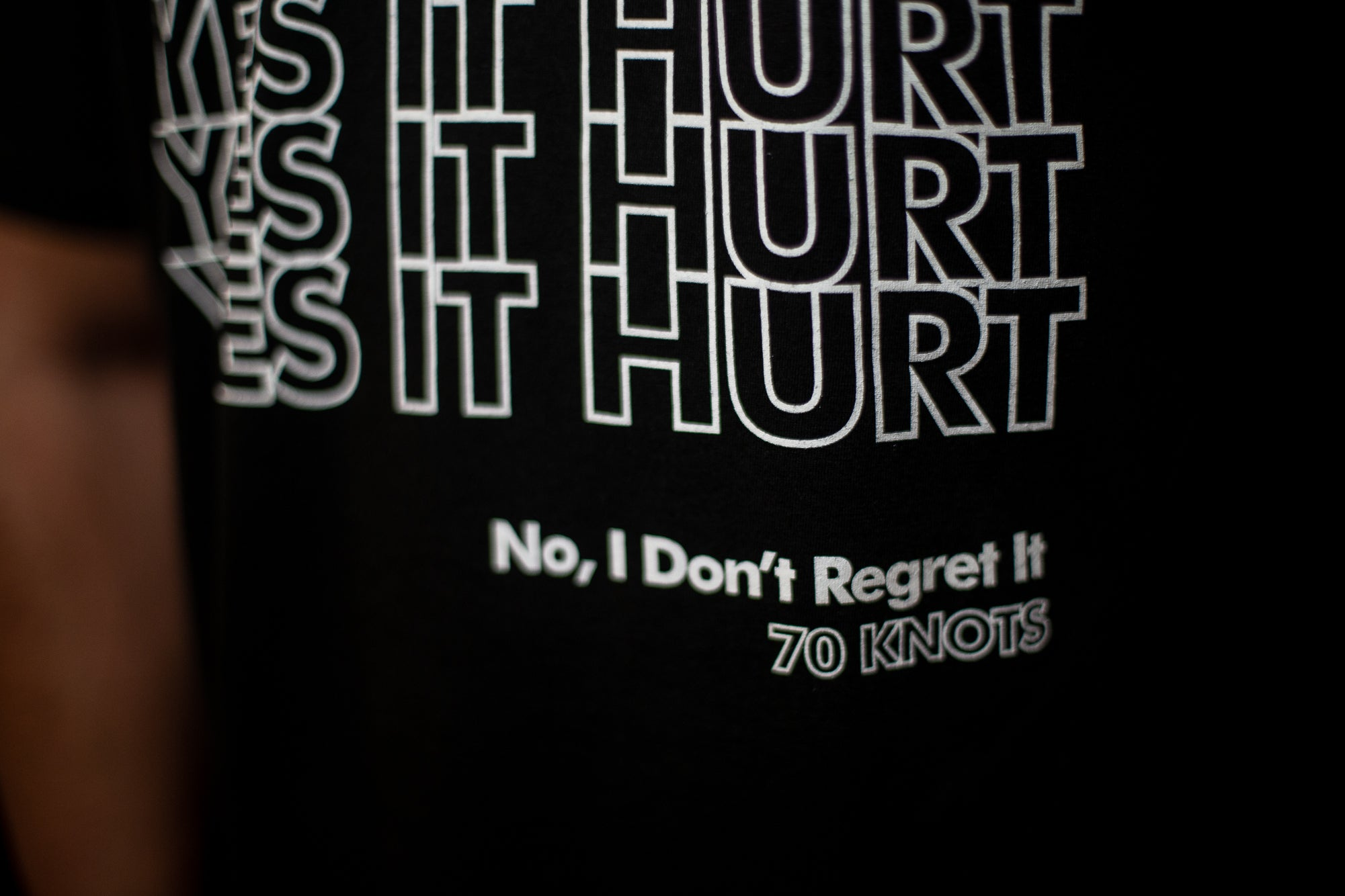 YES IT HURT. NO I DON'T REGRET IT. - 70 Knots Adult Shirt S, M, L, XL Triblend Super Soft Tee - 70 Knots