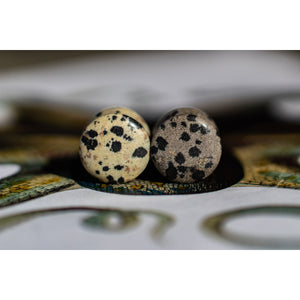 WYSIWYG Dalmatian Stone Quartz Plugs 70 Knots 13mm - Double Flared - Organic - Plugs OOAK 13A - 70 Knots