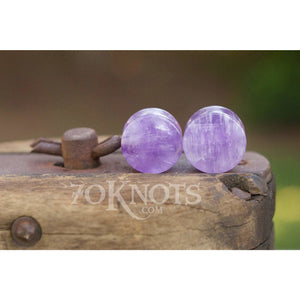 Amethyst Double Flared Plugs, Pair - 70 Knots