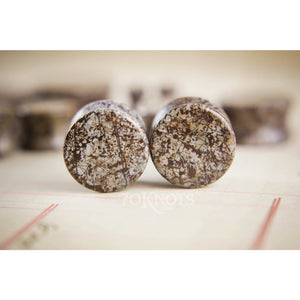 Ocean Jasper Double Flared Plugs, Pair - 70 Knots