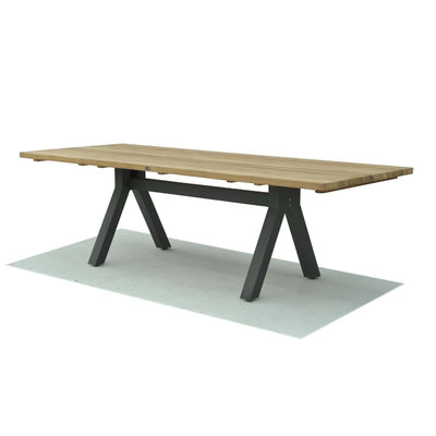 Alaska Rectangular Dining Table - Carbon Matte 2500