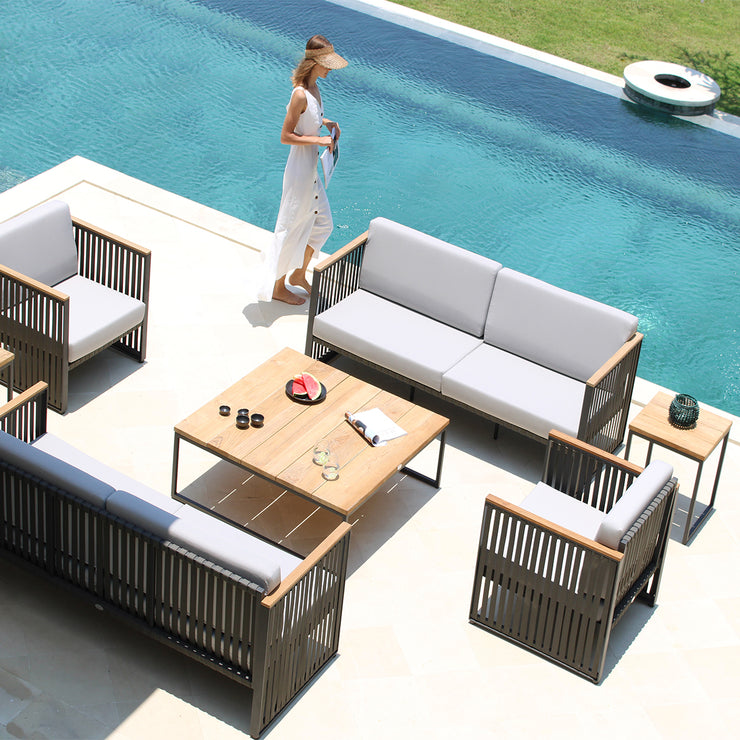quality outdoor teak square dining table by skyline design