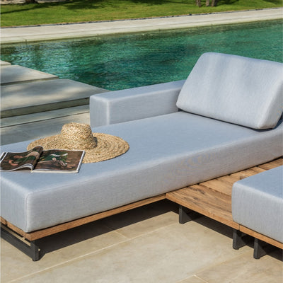 quality teak outdoor day bed by skyline design