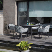skyline designs stunning outdoor square dining table