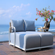 quality outdoor chaise for modular by skyline design