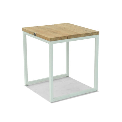 Nautic Square Side Table - White Wash