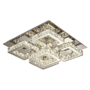 Crystal Ceiling Light LED Modern Geometric Including Warm White / White LED Options