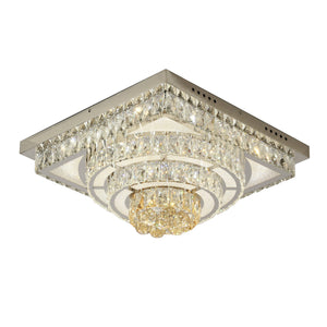 Crystal Ceiling Light LED Contemporary 4 Tier Including Warm White / White LED Options