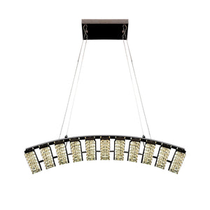 Crystal Chandelier Light LED Modern Asymmetrical Arch Including Warm White / White LED Options