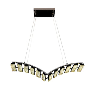 Crystal Chandelier Light LED Modern V Shaped Including Warm White / White LED Options