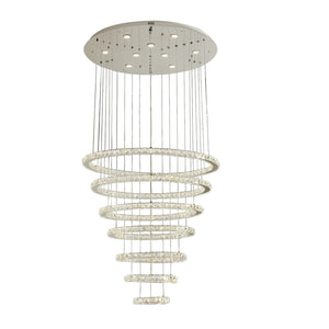 Crystal Chandelier LED Light Modern 7 Tier Circle Including Warm White / White LED Options