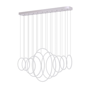Modern Chandelier Light LED Linear Suspension 11 Rings
