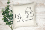 Draw your own picture on a pillow