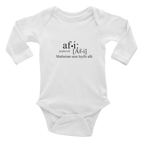 Grandpa dictionary bodysuit baby