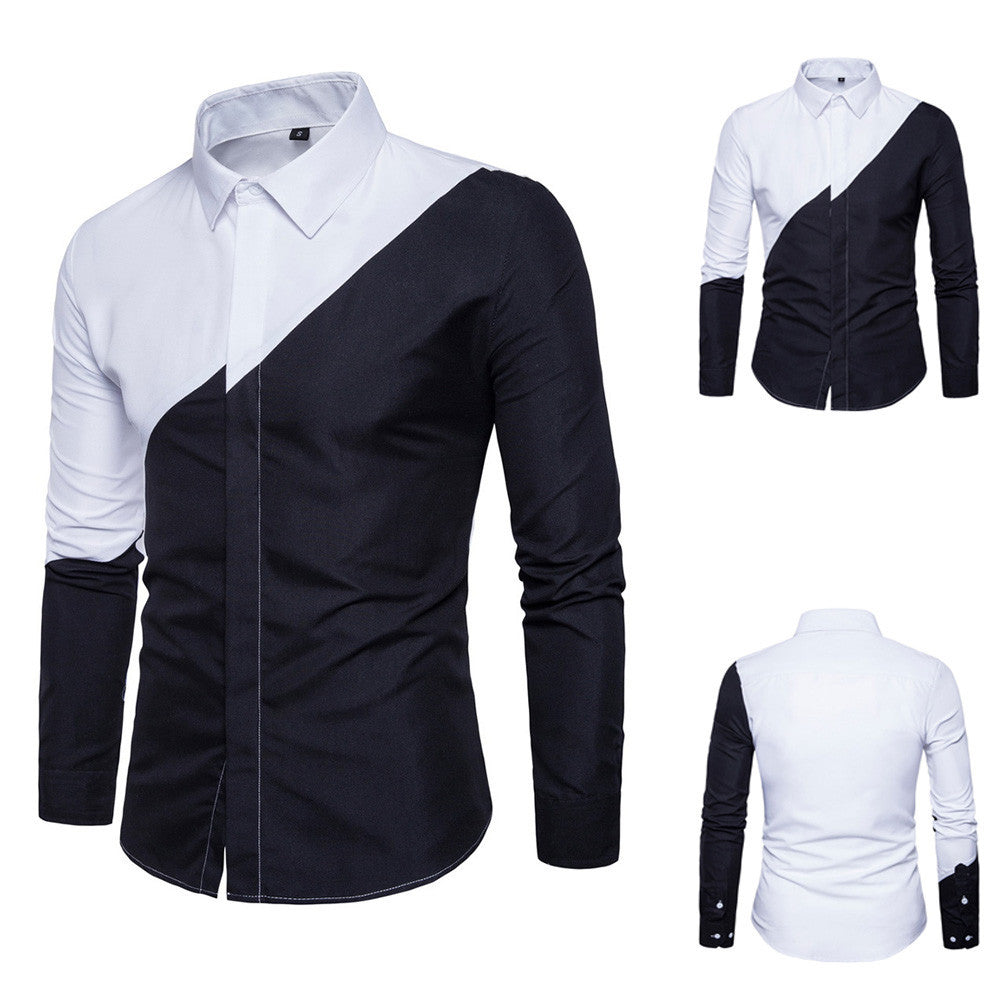 1432207653516 Mens Long Sleeve Oxford Formal Casual Suits Slim Fit Tee Dress Shirts
