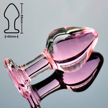 Load image into Gallery viewer, Pink Crystal butt plugs set Pyrex glass anal dildo ball bead fake penis female masturbation sex toy kit for adult women men gay