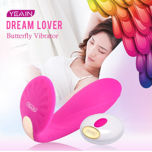 Yeain Butterfly Pussy Vibrator Heating remote control G Spot Strapless Strapon Massager Vibrator Machine Sex toys for women