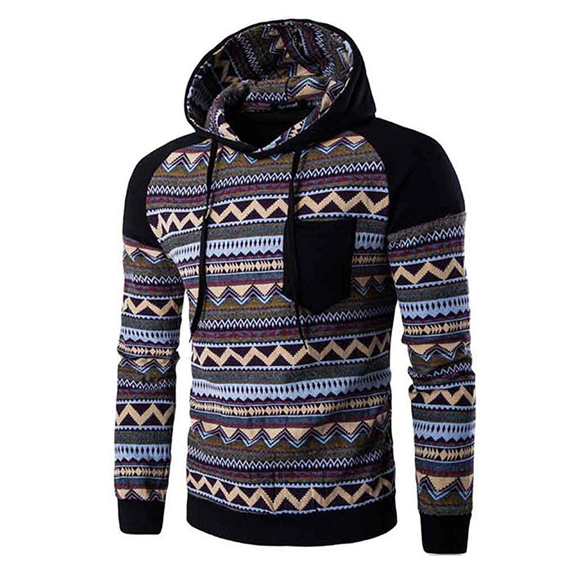 Ethnic Hooded Sweatshirt