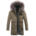 Fur-Hooded Winter Parka Jacket