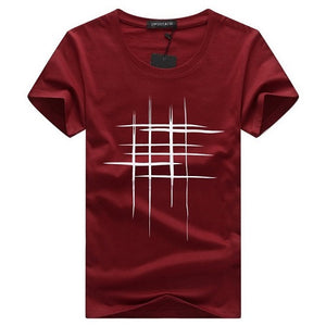 Intersecting Lines Design T-Shirt