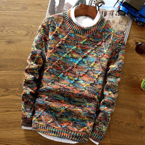 Polychromatic Twilled Sweater