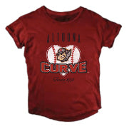 Altoona Curve Women's Slub Roll Up Tee
