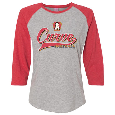 Altoona Curve Women's 3/4 Sleeve Tee