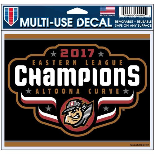 Altoona Curve Eastern League Champions Multi-Use Decal