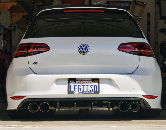 2015-2017 MK7 Golf-R Rear Diffuser Fins
