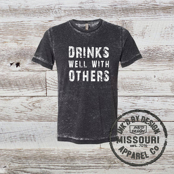 1fd701697c0abf Drinks Well With Others-Acid Washed Shirt- Multiple Color Options